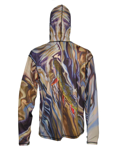 UGV Brook Sunpro fishing hoodie running clothes or on the river fishing clothes offering great sun protection from harmful UV light, while keeping you cool.