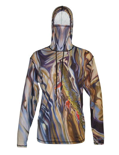 UGV Brook Sunpro Hoodie running clothes or on the river fishing clothes offering great sun protection from harmful UV light, while keeping you cool