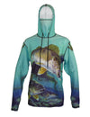 Walleye sun protective graphic fishing hoodie