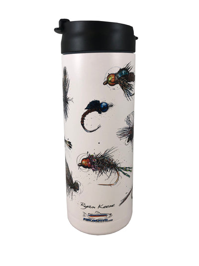 Bunch of Flies Hot/Cold Beverage Bottle-18 Oz., White