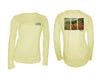 Women's Colored Brown/Pale Yellow Solar Performance L/S T
