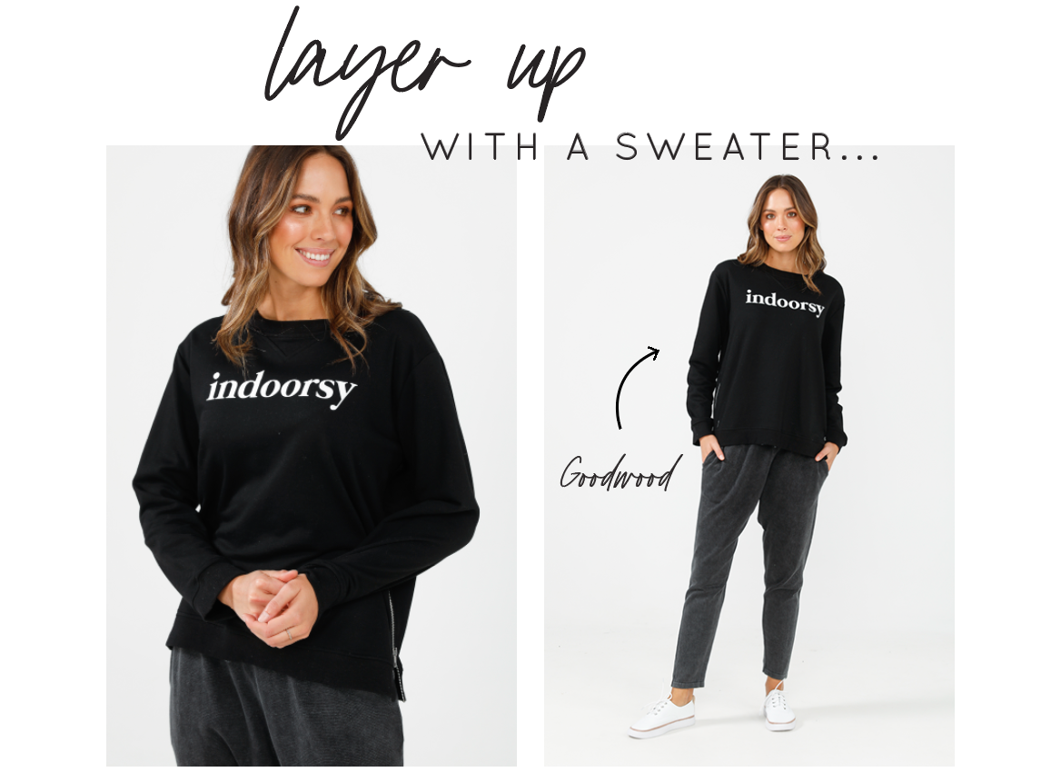 Layer up with a Sweater