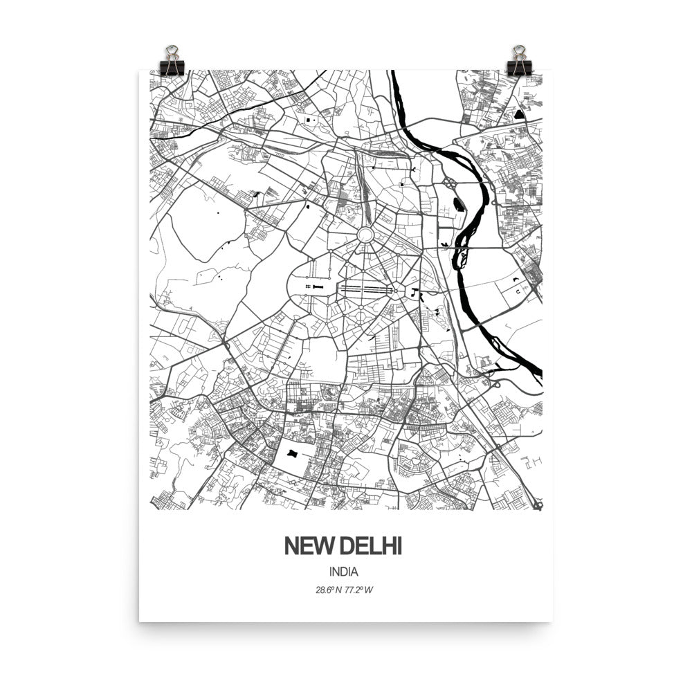 New Delhi, India - Poster Wall Art