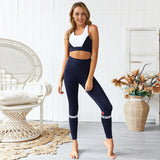 full coverage padded sports bra full length high waist leggings sports yoga set  Keliana