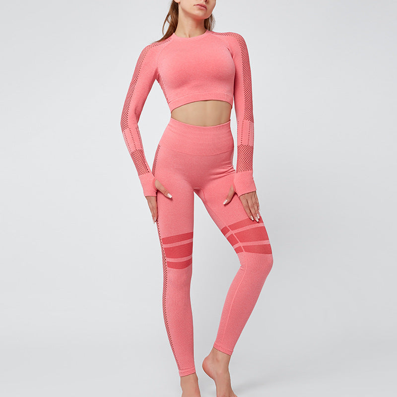women training yoga long sleeve top gym set seamless legging Keliana Yogawear