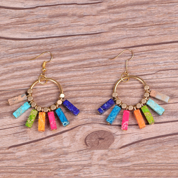 Natural Stone Emperor Earrings