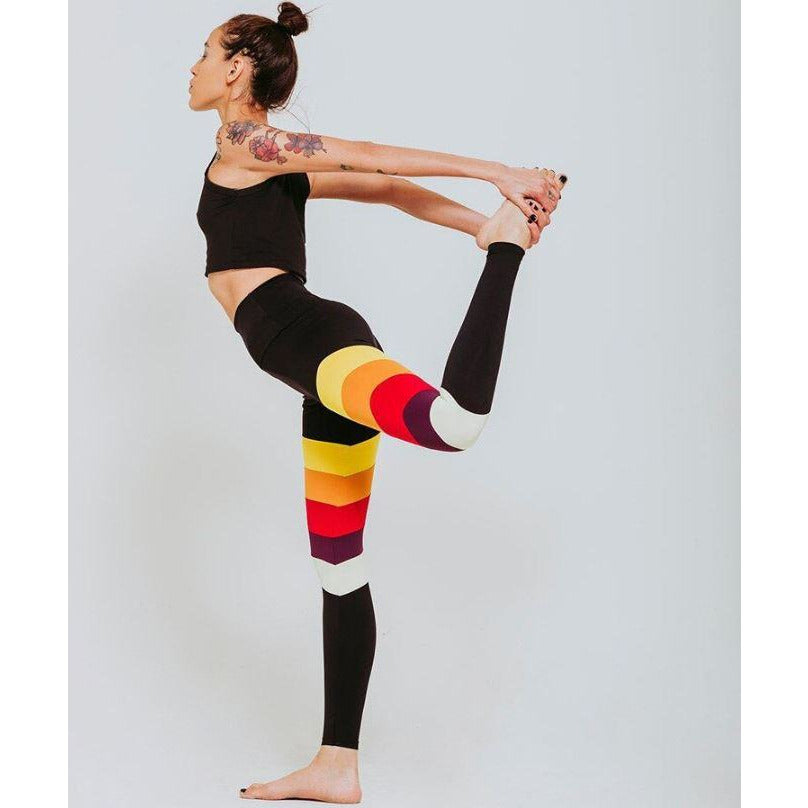 Women's Stretch Yoga Fitness Rainbow Pants Leggings by Keliana