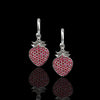 18k White Gold and Ruby Strawberry Earrings - saba diamonds