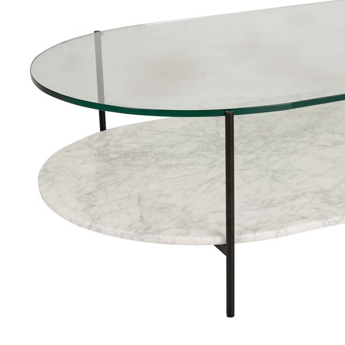 Clermont Oval Marble Coffee Table