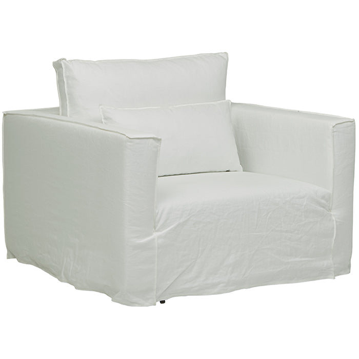 Vittoria Square Slip Cover Sofa Chair