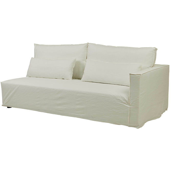 Vittoria Square Slip Cover 2 Seater Right Arm