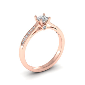 18ct Gold 0.36ct Diamond Solitaire Engagement Ring H/Si. 18ct Rose, Yellow or White Gold.