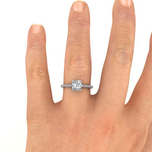 18ct White Gold 1.20ct Diamond 'Forever' Solitaire Engagement Ring.