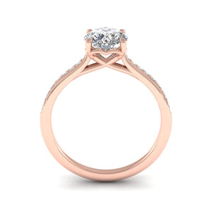 18ct Rose Gold 1.20ct Diamond 'Forever' Solitaire Engagement Ring.