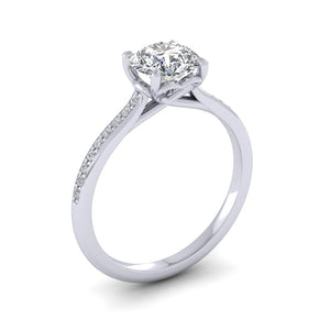 18ct Yellow Gold 1.20ct Diamond 'Forever' Solitaire Engagement Ring.