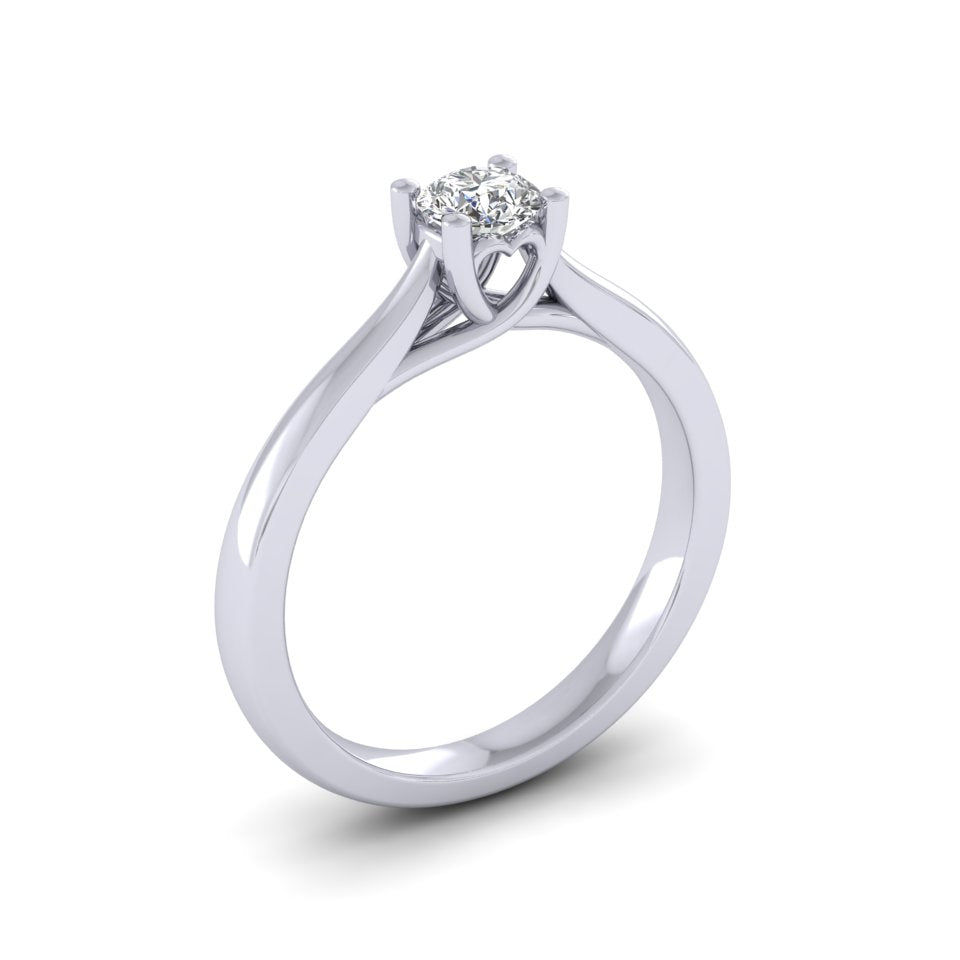 Platinum 0.25ct Diamond 'Cariad' Solitaire Engagement Ring.