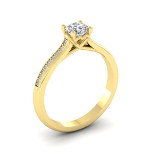 18ct Gold 0.50ct Diamond 'Love' Solitaire Engagement Ring. 18ct Rose, Yellow or White Gold.
