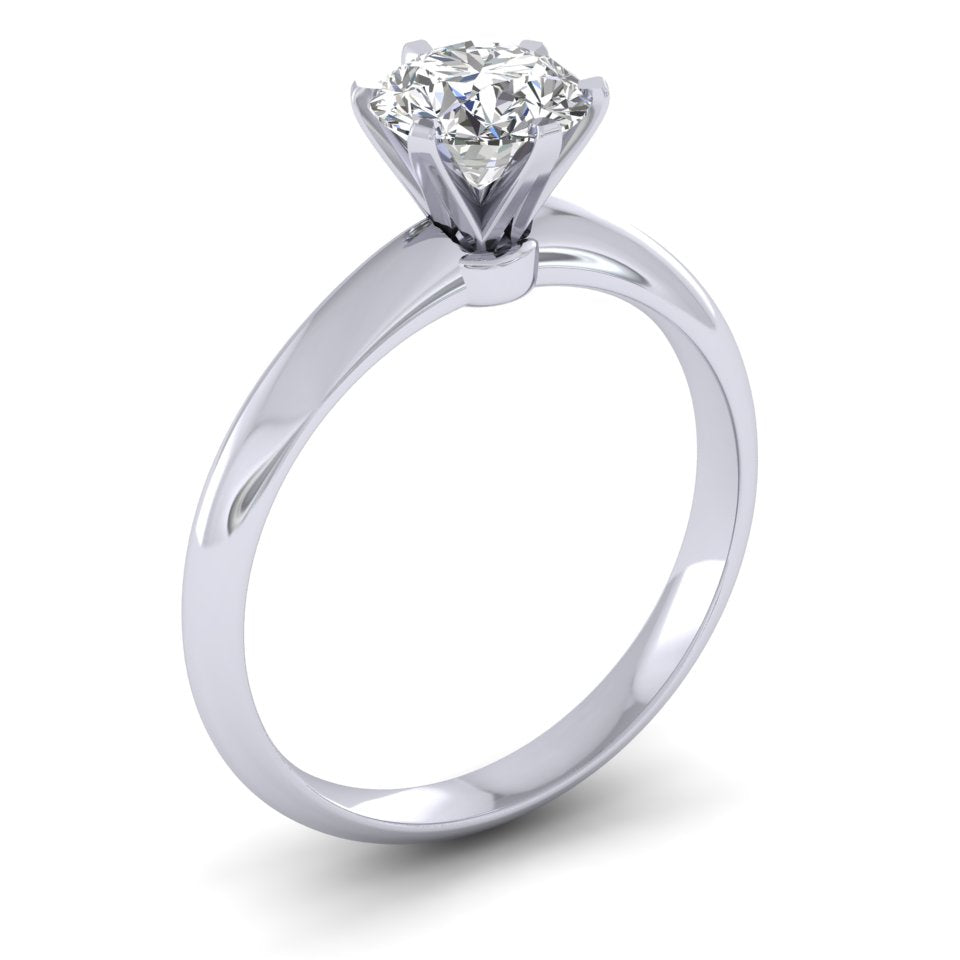 Platinum Tiffany Style 1.30ct Diamond Solitaire Engagement Ring.