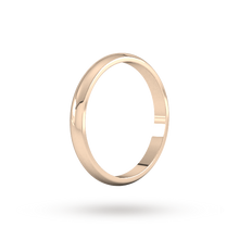 Load image into Gallery viewer, 9ct 2.5mm Rose Gold Traditional D shape Wedding Band.