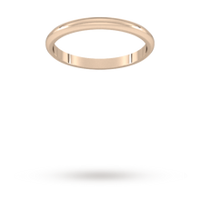 Load image into Gallery viewer, 9ct 2mm Rose Gold Traditional D shape Wedding Band.
