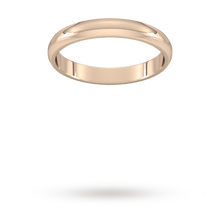 Load image into Gallery viewer, 9ct 3mm Traditional D shape Rose Gold Wedding Band. Handmade in Wales.