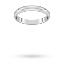 Load image into Gallery viewer, 9ct 3mm White Gold Traditional D shape Wedding Band. Handmade in Wales.