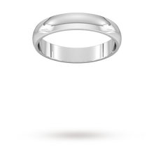 Load image into Gallery viewer, 9ct 4mm White Gold Traditional D shape Wedding Band.