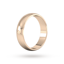 Load image into Gallery viewer, 9ct 5mm Rose Gold Traditional D shape Wedding Band.