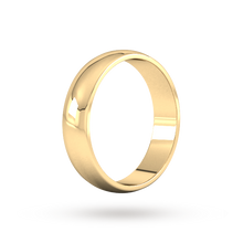 Load image into Gallery viewer, 9ct 5mm Yellow Gold Traditional D shape Wedding Band.