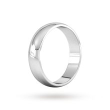 Load image into Gallery viewer, Platinum 5mm Traditional D shape Wedding Band.
