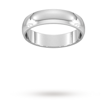 Load image into Gallery viewer, 5 mm Platinum D shape band