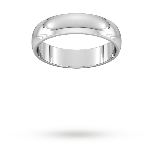 5 mm Platinum D shape band