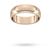 Load image into Gallery viewer, 9ct 6mm Rose Gold Traditional D shape Wedding Band.