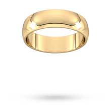 Load image into Gallery viewer, 9ct 6mm Yellow Gold Traditional D shape Wedding Band.
