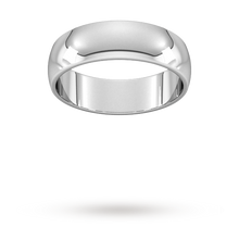 Load image into Gallery viewer, 9ct 6mm White Gold Traditional D shape Wedding Band.