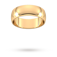 Load image into Gallery viewer, 9ct 7mm Yellow Gold Traditional D shape Wedding Band.