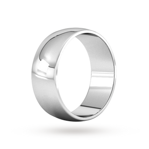 Platinum 8mm Traditional D shape Wedding Band.