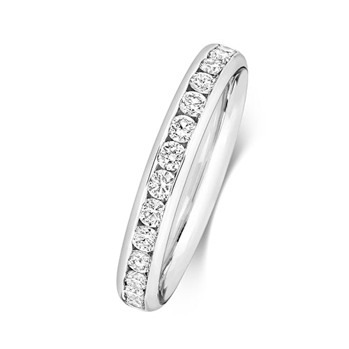 Channel Set Platinum Diamond Band 3mm