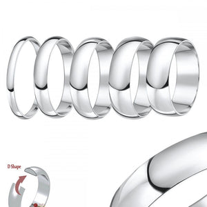Platinum 2.5mm Traditional D shape Wedding Band.