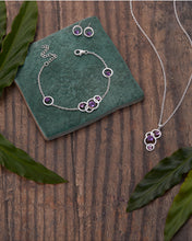 Load image into Gallery viewer, Silver Amethyst Earrings. February Birthstone