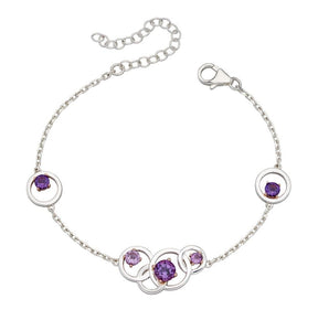Silver Amethyst Necklace.