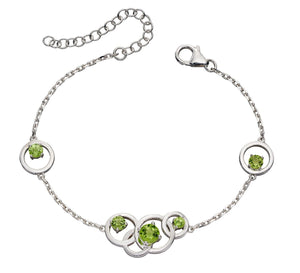 Silver Peridot Necklace.
