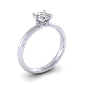 Platinum 0.76ct Diamond Solitaire Engagement Ring H/Si.