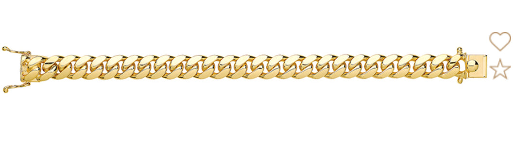 9ct Gold Super Heavy Weight Solid Link Cuban Bracelet.