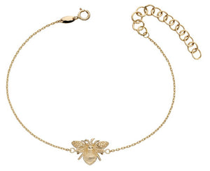 9ct Yellow Gold Bee Bracelet.