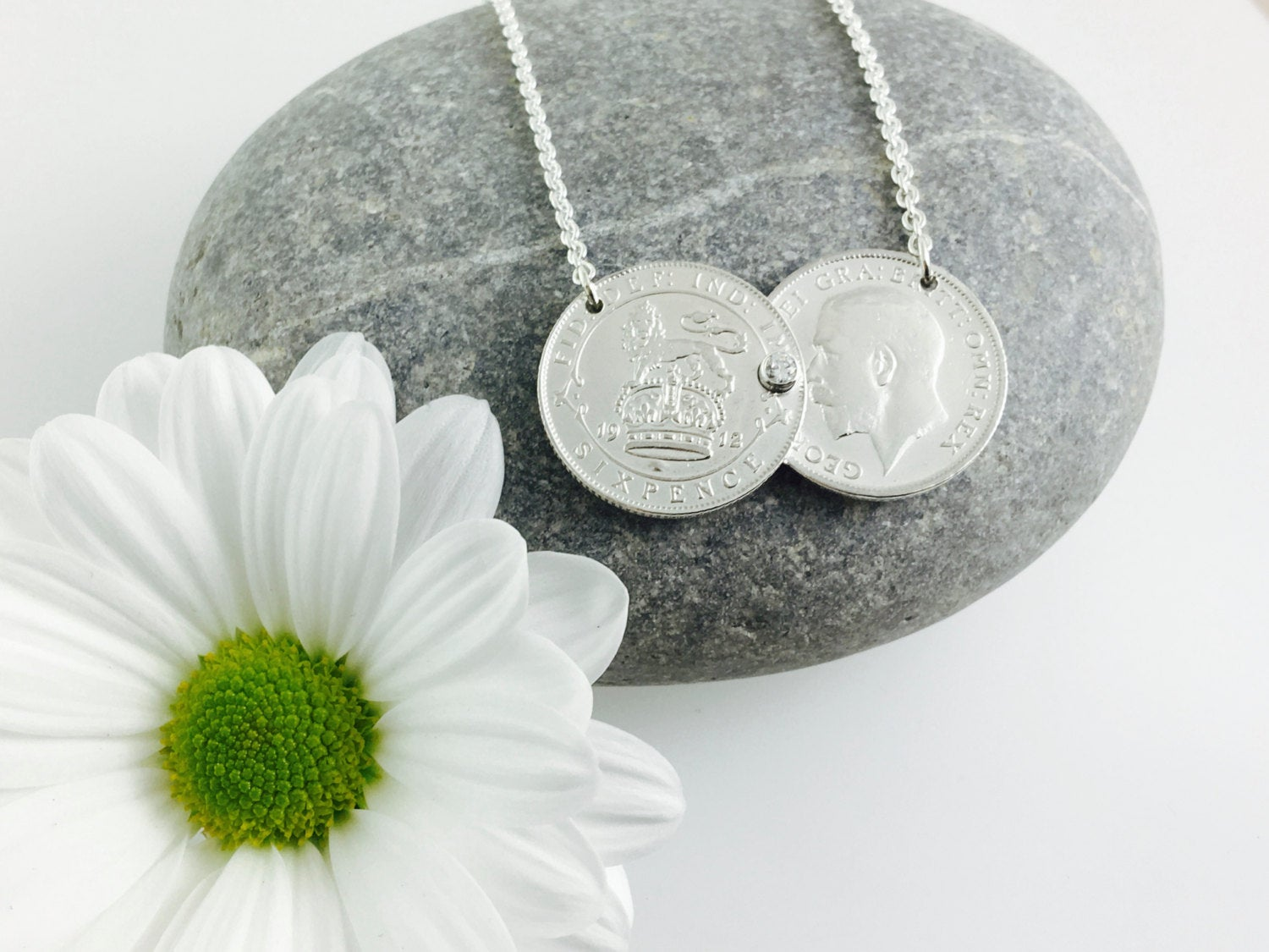 Double Coin Necklace Solid sterling silver.