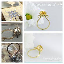 Load image into Gallery viewer, Flower bud Citrine statement ring .