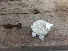 Load image into Gallery viewer, Handmade silver sheep brooch, individually hand crafted at Jeffs Jewellers.
