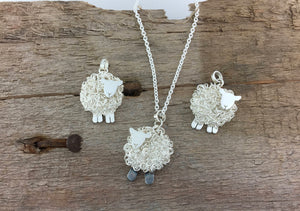 Handmade silver sheep cufflinks, individually hand crafted at Jeffs Jewellers.