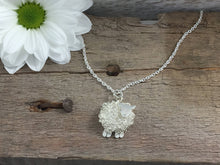 Load image into Gallery viewer, Silver sheep necklace, individually hand crafted in Wales at Jeffs Jewellers.